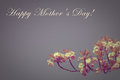 Happy mother s day in old style greeting card or background for with flower Stock Photo