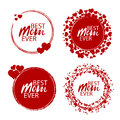 Happy mother`s day stamp. Red round grunge vintage mother`s day sign. Vector