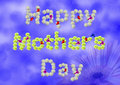Happy mother s day word mothers made from carnation Royalty Free Stock Photography