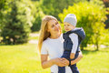 Happy mother and son Royalty Free Stock Photo