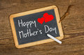 Happy mothers day on a blackboard Stock Photography