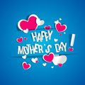 Happy mothers day card creative with hearts vector illustration Royalty Free Stock Photography