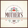 Happy mothers day card eps compatibility required Royalty Free Stock Photos