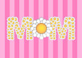 Happy Mothers Day with Daisy Flowers Pattern Royalty Free Stock Photos