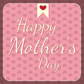 Happy mothers day design with pink hearts Royalty Free Stock Photo