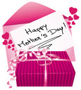Happy mothers day gift and greeting card Stock Photography