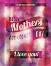Happy mothers day greeting design beautiful and bright funky Stock Photography