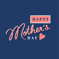 Happy mothers day hand lettering Royalty Free Stock Photography
