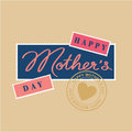 Happy mothers day hand lettering Stock Photo