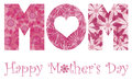 Happy Mothers Day Mom Alphabet Flowers Stock Photo