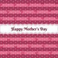Happy mothers day over cute pattern