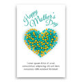Happy Mothers Day postcard. Heart shaped design.