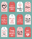 Happy Mothers day vector set of tags,labels.Greeting cards illustrations collection. Hand lettering holiday background.