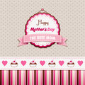 Happy mothers day vintage greeting card Stock Image