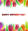 Happy Mothers Day Watercolor Background