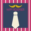Happy Movember vector illustration