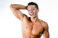 Happy muscular man Royalty Free Stock Photography