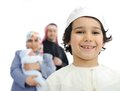 Happy Muslim family Royalty Free Stock Images
