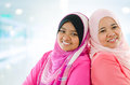 Happy Muslim women Royalty Free Stock Photography