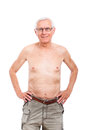 Happy naked senior man Royalty Free Stock Photography