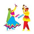 Happy navratri festival design