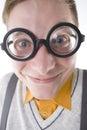 Happy nerd Royalty Free Stock Photo