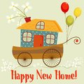 Happy new home cute card congratulations on your house Stock Photo