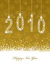 Happy new year 2010 Royalty Free Stock Photography