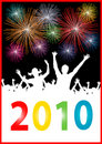 Happy new year 2010 Placard Royalty Free Stock Photo