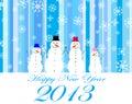 Happy new year 2013 Royalty Free Stock Photo