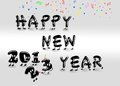 Happy new year 2013. Royalty Free Stock Images