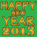 Happy new year 2013. Stock Photo