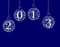 Happy new year 2013 balls Royalty Free Stock Images