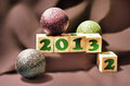 Happy new year 2013 blocks Royalty Free Stock Images