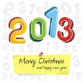Happy new year 2013, colorful design Stock Image