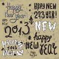 Happy New Year 2013 grunge text Stock Photography