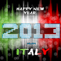 Happy New Year 2013 from Italy Stock Photo