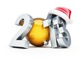 Happy new year 2013 santa hat Stock Photography