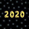 Happy New Year 2020 seamless pattern