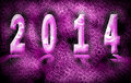 Happy new year abstract text with candy on heart bokeh background Stock Photography