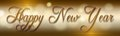 Happy new year background banner with gold text Stock Images
