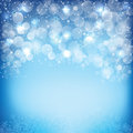 Happy new year background with bubble and snows Royalty Free Stock Photography