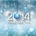 Happy new year background with christmas bauble Stock Photos