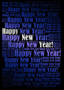 Happy new year background holiday word cloud Royalty Free Stock Photo