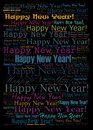 Happy new year background holiday word cloud Stock Image