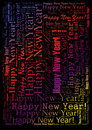 Happy new year background holiday word cloud Royalty Free Stock Image