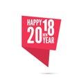 2018 Happy new year background