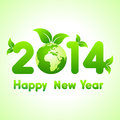 Happy New Year 2014 background with save the world concept Royalty Free Stock Photo