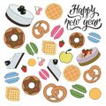 Happy new year bakery pattern