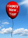 Happy new year balloon shows parties and celebration showing Royalty Free Stock Photo